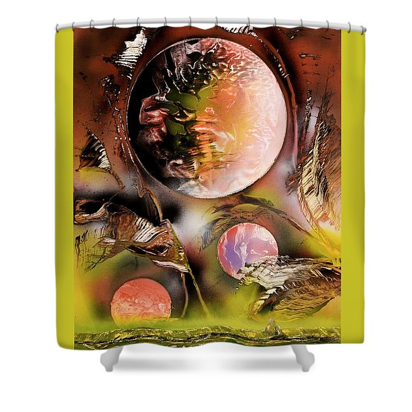 Dance Of The Planets Shower Curtain