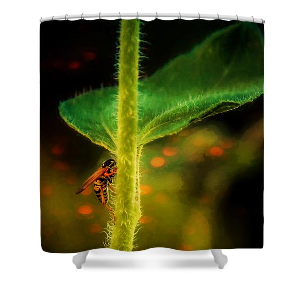 Dance Of The Wasp Shower Curtain