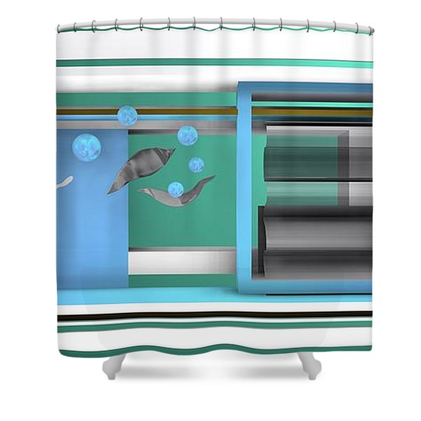 Dance With Balls Shower Curtain