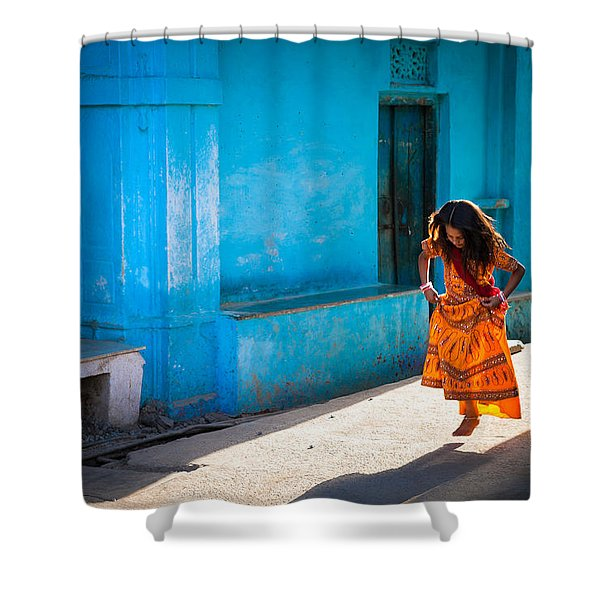 Dancer In The Light Shower Curtain