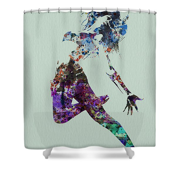 Dancer Watercolor Shower Curtain