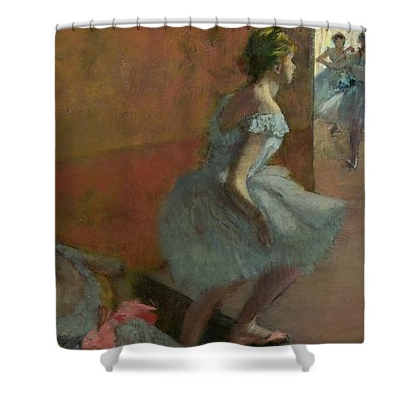 Dancers Ascending A Staircase Shower Curtain