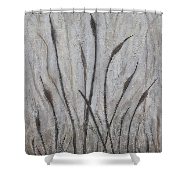 Dancing Cattails 3 Shower Curtain