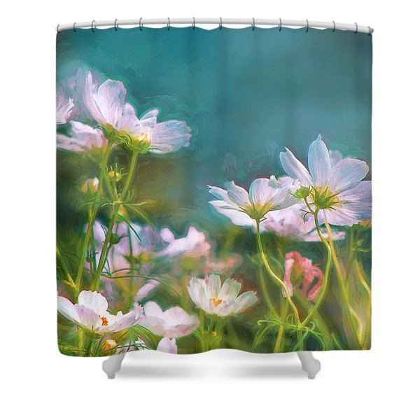 Dancing Cosmos Shower Curtain