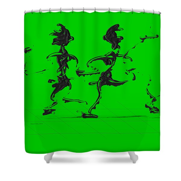 Dancing Couple 3 Shower Curtain