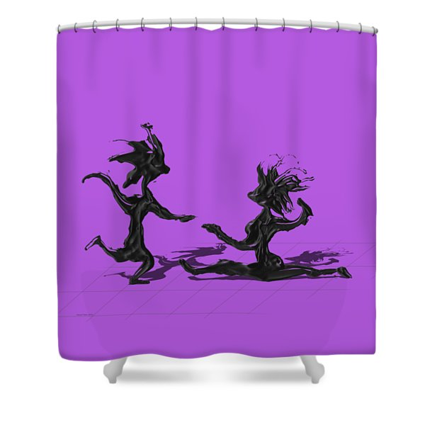 Dancing Couple 9 Shower Curtain