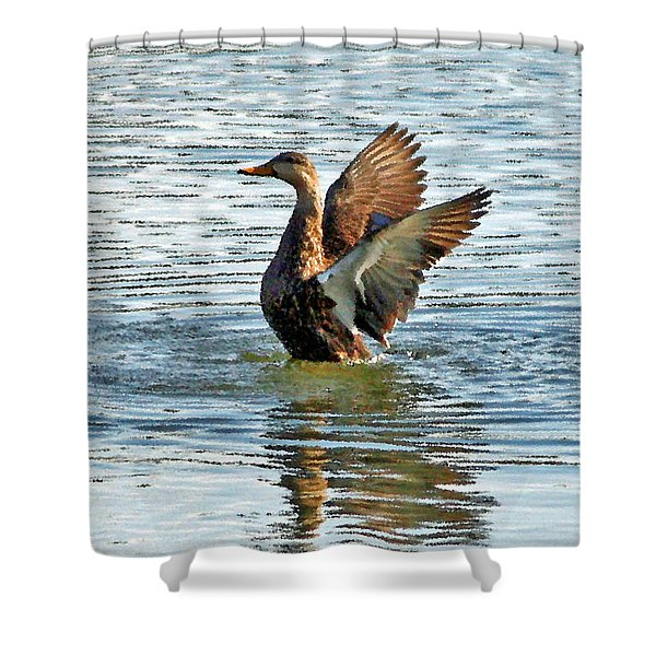 Dancing Duck Shower Curtain