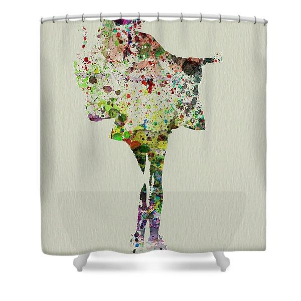 Dancing Geisha Shower Curtain