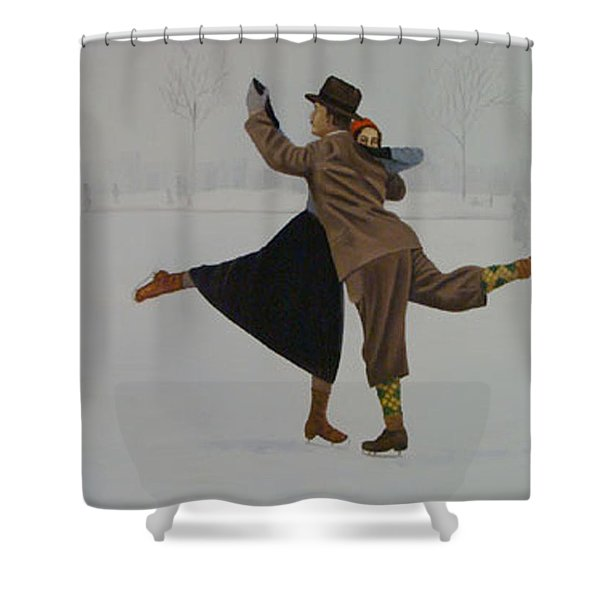 Dancing On Ice Shower Curtain