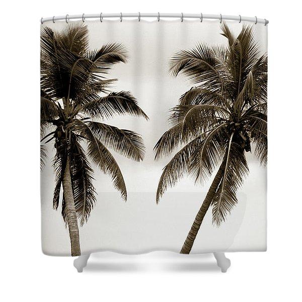 Dancing Palms Shower Curtain by Susanne Van Hulst