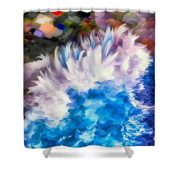 Dancing Swells Shower Curtain