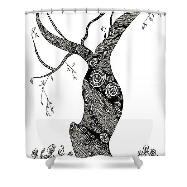 Dancing Tree Shower Curtain