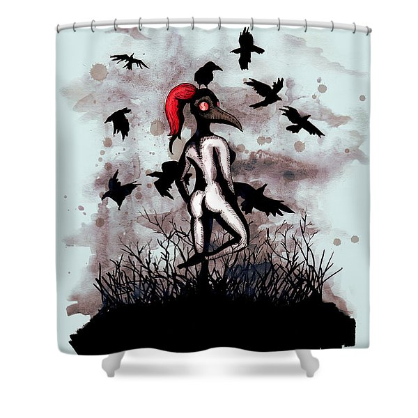 Dancing With Crows Shower Curtain