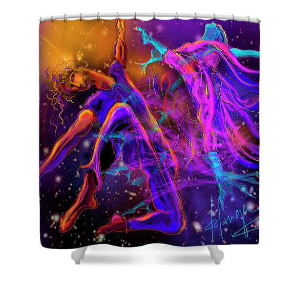 Dancing With The Universe Shower Curtain
