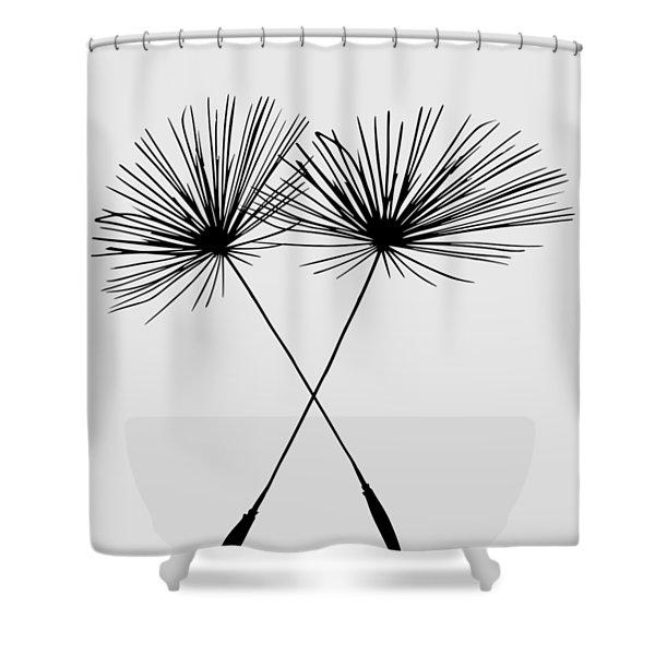 Dandelion Duo  Shower Curtain
