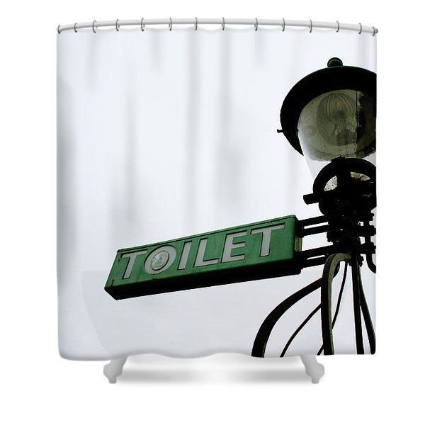 Danish Toilet Sign Shower Curtain