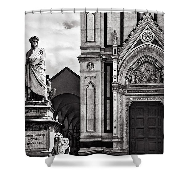 Dante At The Church Shower Curtain