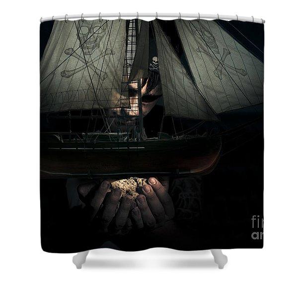 Dark Adventure Shower Curtain