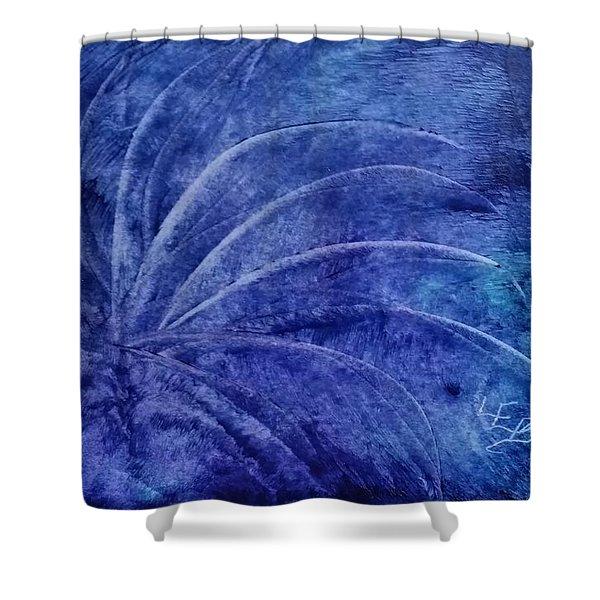 Dark Blue Abstract Shower Curtain
