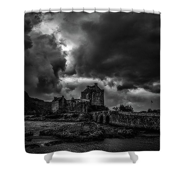 Dark Clouds Bw #h2 Shower Curtain
