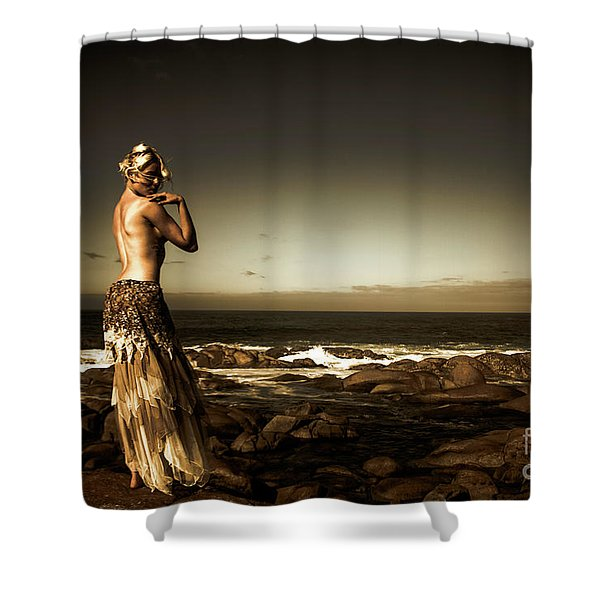 Dark Dramatic Fine Art Beauty Shower Curtain