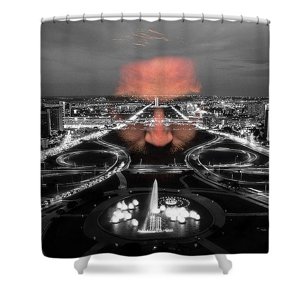Dark Forces Controlling The City Shower Curtain