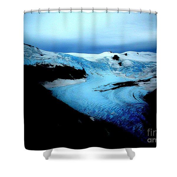 Dark Glacier Shower Curtain