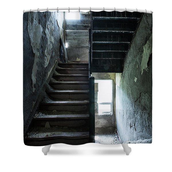 Dark Intervals Shower Curtain