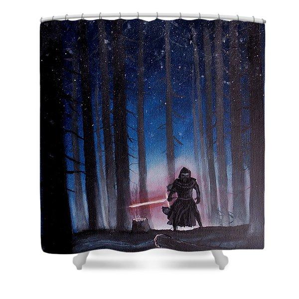 Dark Jedi Shower Curtain