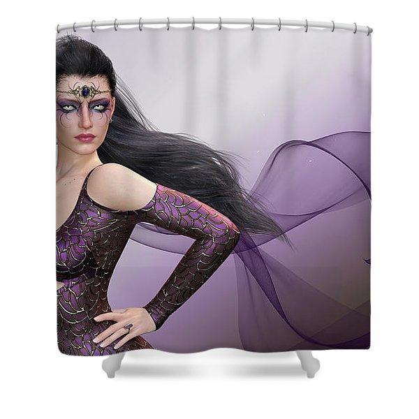 Dark Lady Shower Curtain