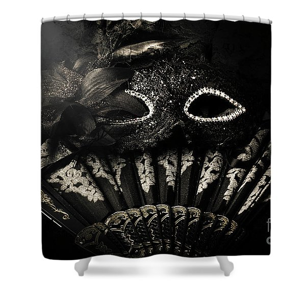 Dark Night Carnival Affair Shower Curtain