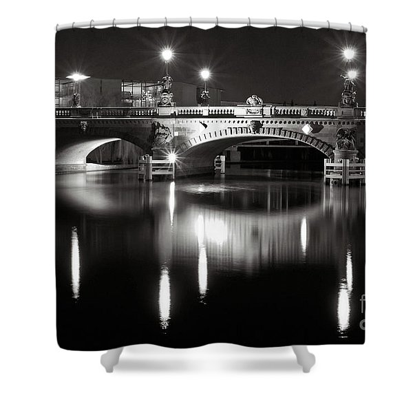 Shower Curtain featuring the photograph Dark Nocturnal Sound Of Silence by Silva Wischeropp