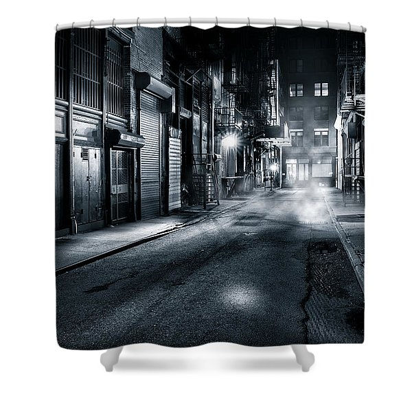 Dark Nyc Shower Curtain