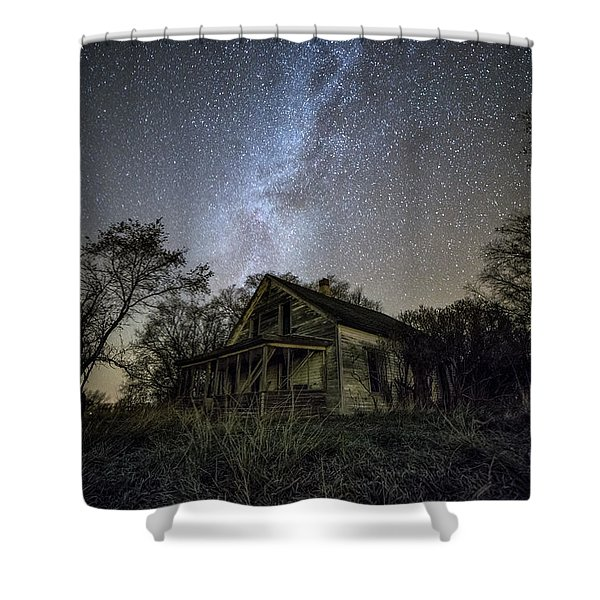 dARK pLACES Shower Curtain