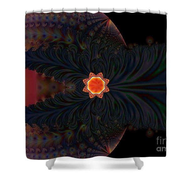Dark Space Fractal  Shower Curtain