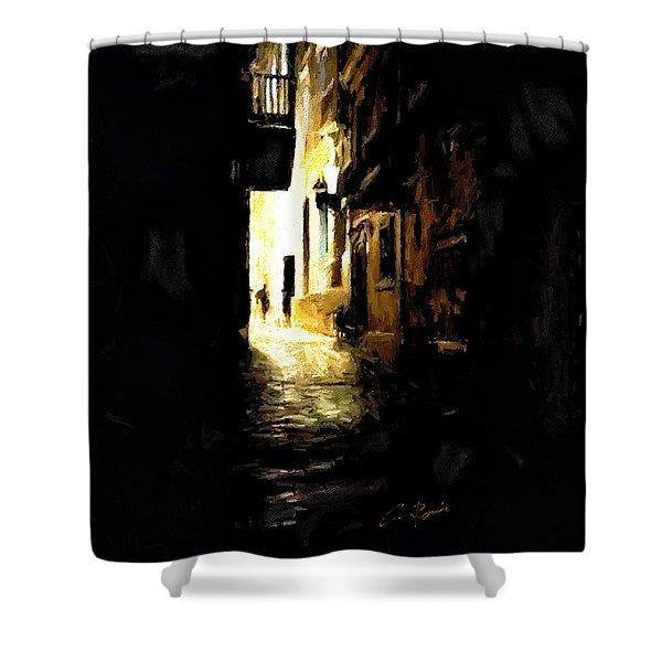 Dark Street Shower Curtain