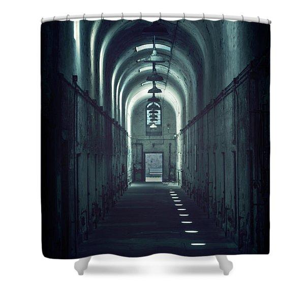 Dark Tunnels Shower Curtain
