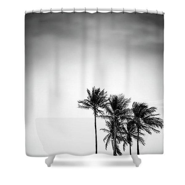 Dark Winds Rising Shower Curtain