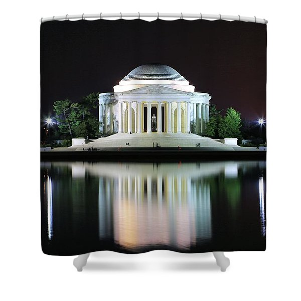 Darkness Over The Jefferson Memorial Shower Curtain