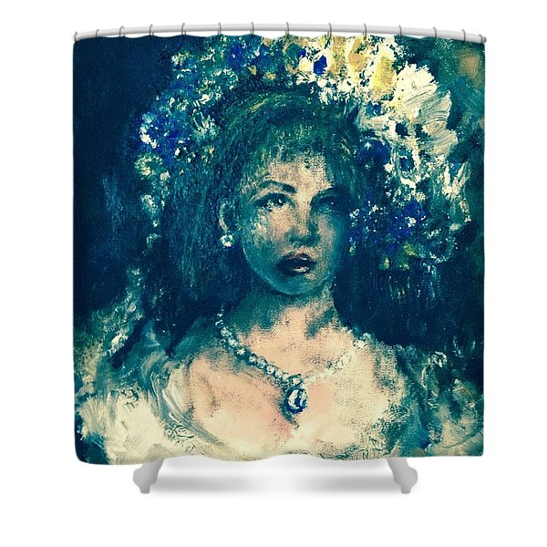 Shower Curtain featuring the photograph Darling Blue by Laurie Lundquist