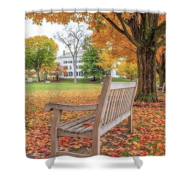 Dartmouth Hanover Green In Autumn Shower Curtain