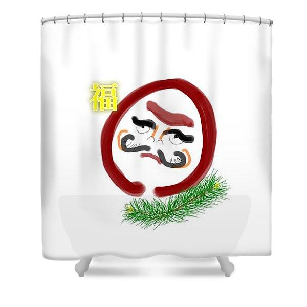 Daruma Shower Curtain