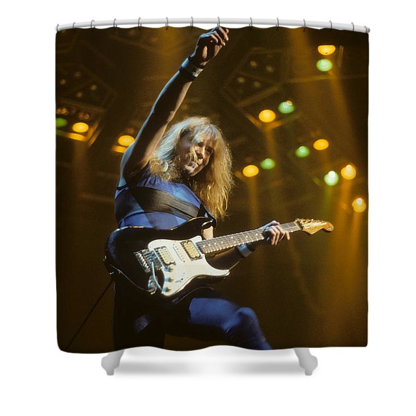 Dave Murray Of Iron Maiden Shower Curtain
