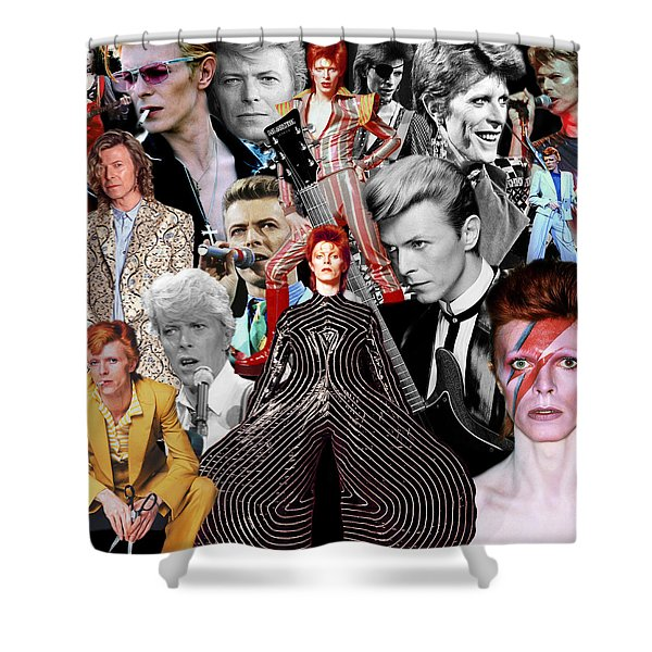 David Bowie 6 Shower Curtain