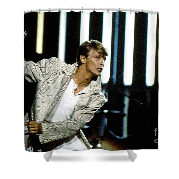 David Bowie Action Man Shower Curtain