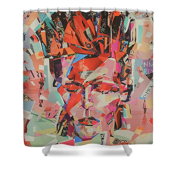 David Bowie In Color Shower Curtain