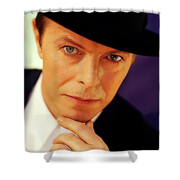 David Bowie As An Average Everyman Shower Curtain