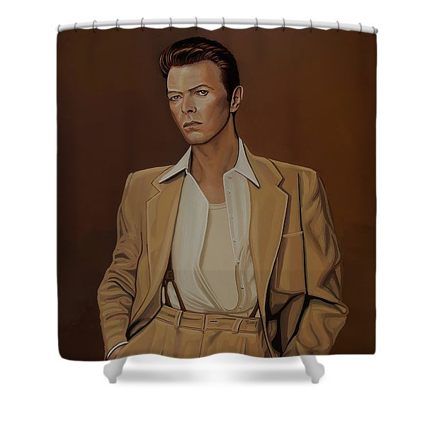 David Bowie Four Ever Shower Curtain