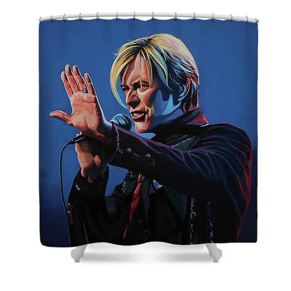 David Bowie Live Painting Shower Curtain