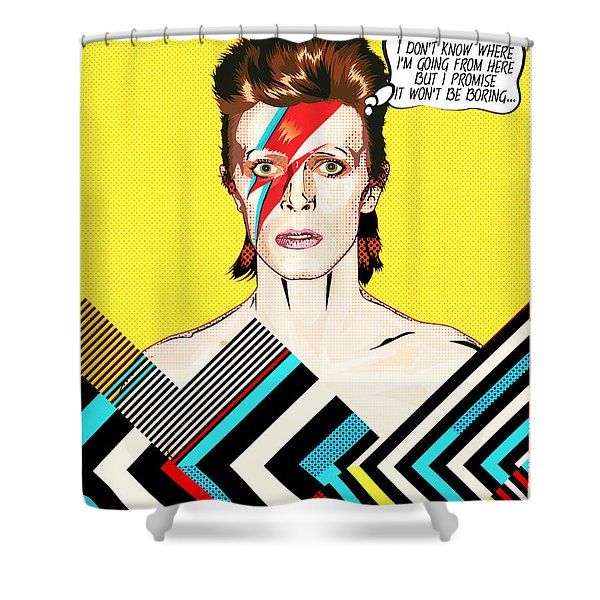 David Bowie Pop Art Shower Curtain